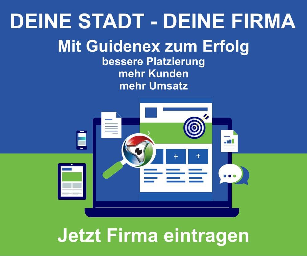 Firmeneintrag bei Guidenex